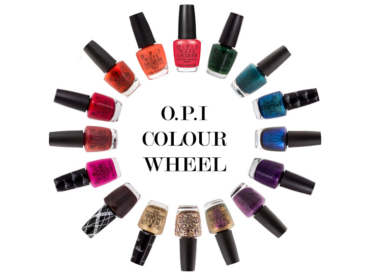 OPI Colour Wheel – How To Paint Rainbow Nails in Water!