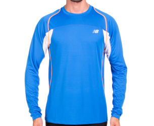 New Balance Men's Momentum LS Tee - Cobalt Blue