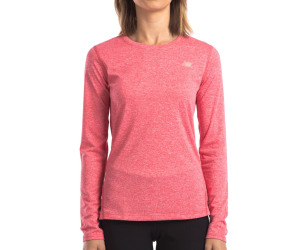 New Balance Women's Heathered Long Sleeve Top - Ruby