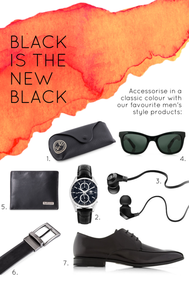 Black is the new Black Men's Style Acessories