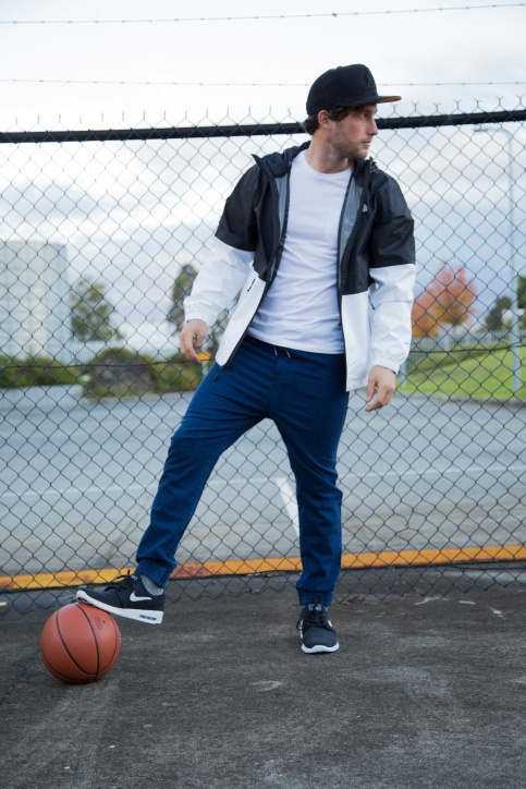 How to pull off sporty denim