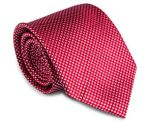 Van Heusen Studio Small Checked Silk Tie - Red